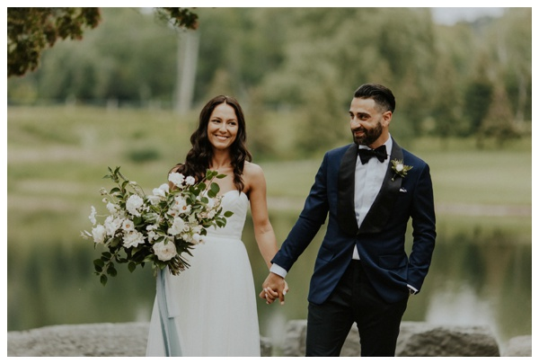 bows and lavender romantic rainy day wedding toronto elopement wedding photographer the manor kettleby ontario sarah seven