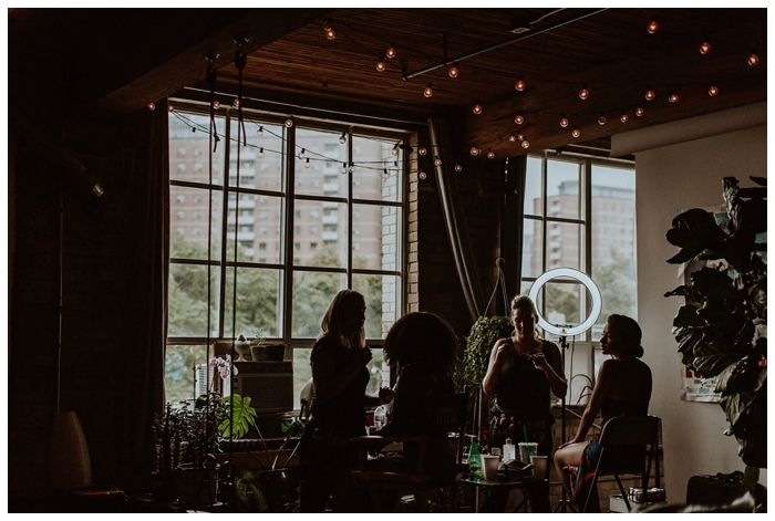 storysbuilding wedding bows and lavender photography toronto wedding photographer industrial wedding venue