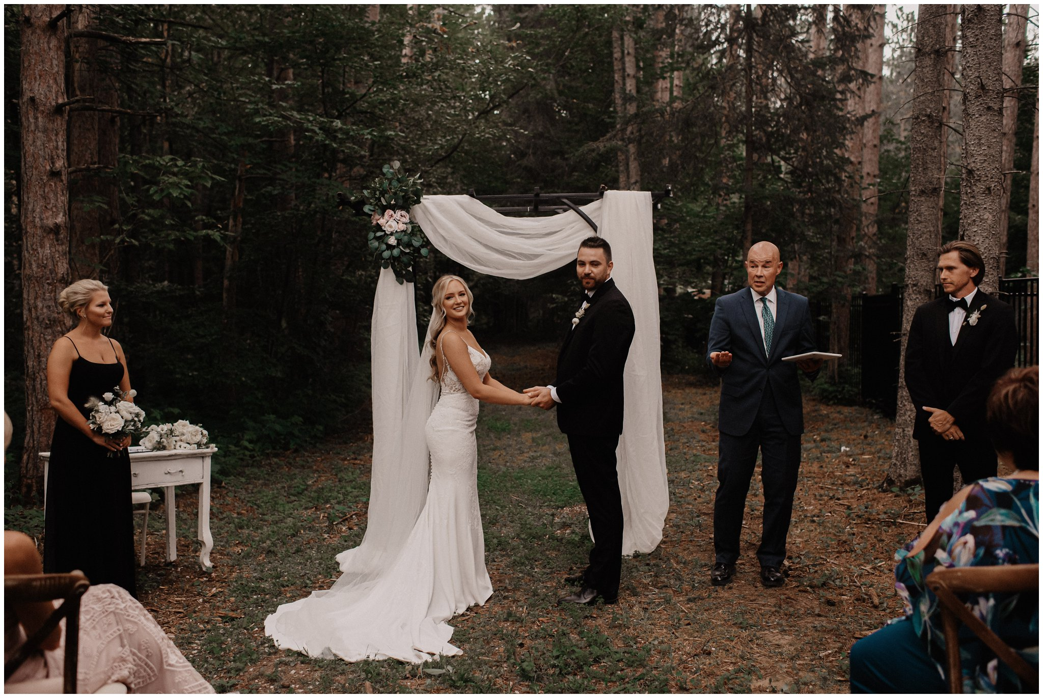 backyard wedding barrie ontario bows and lavender photography