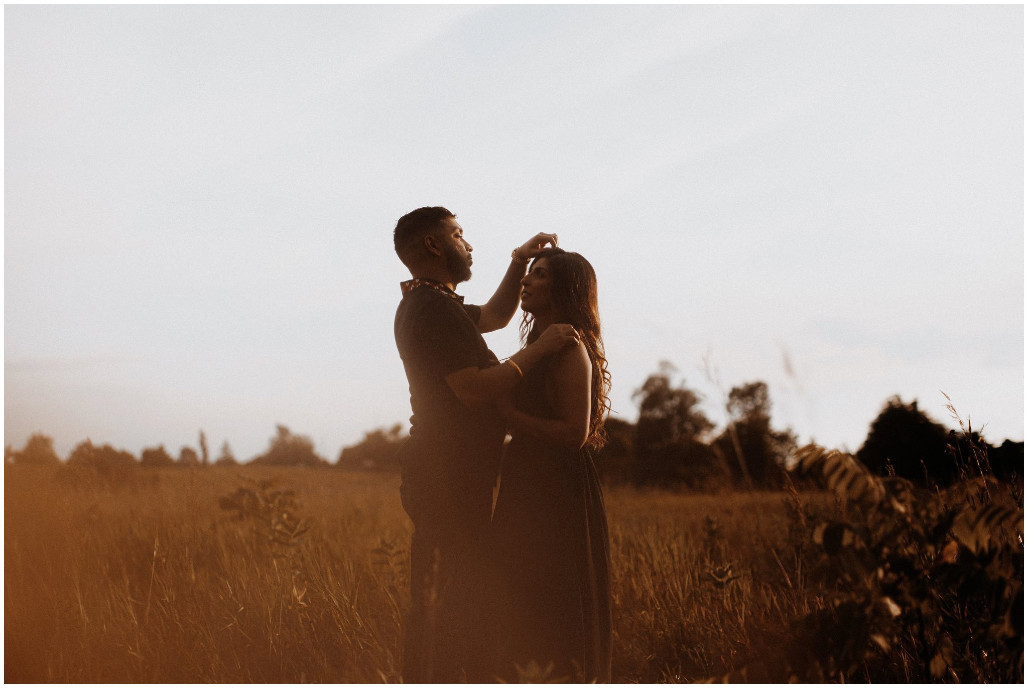 night in july bows and lavender engagement photography session